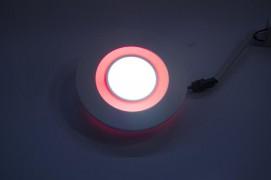 Светодиодный светильник 8W с красной подсветкой