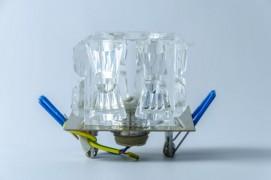 Встраиваемый светильник прозрачный хром ART