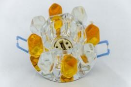 Встраиваемый светильник прозрачный желтый STELLA