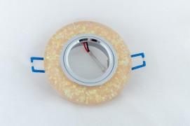 Встраиваемый светильник с LED подсветкой (желтый)