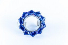 Встраиваемый светильник синий, хром