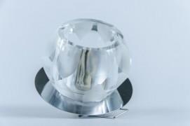 Встраиваемый светильник прозрачный хром