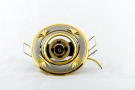 Встраиваемый светильник титан золото