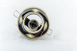 Встраиваемый светильник черный металлик золото