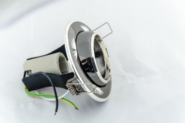 Встраиваемый светильник черный металлик серебро