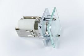 Встраиваемый светильник прозрачный, хром R39 со стеклом